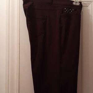 Brown ankle length pants